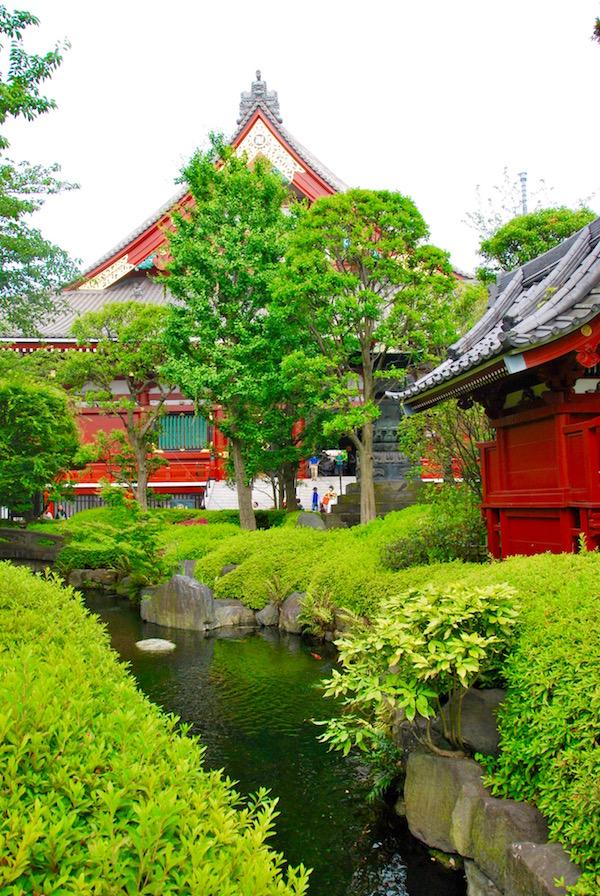 Jardin zen près du temple Senso-Ji