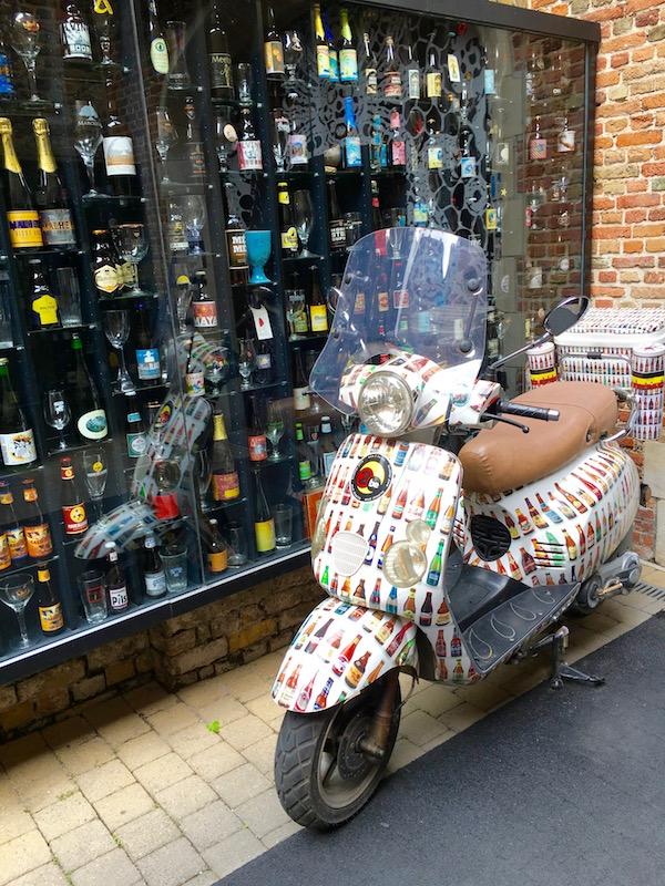 Scooter in Bruges