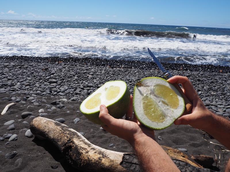 Polynésie fruits sur la plage