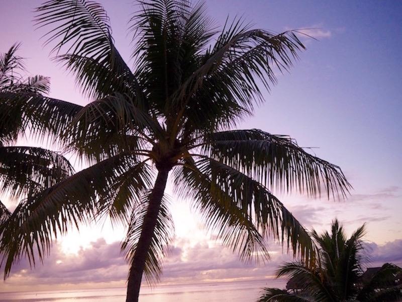 Coucher soleil Polynésie