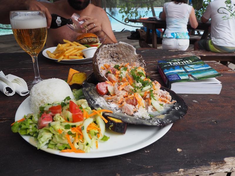 Polynésie thon au lait de coco